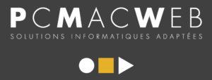 Logo de la société PCMACWEB et lien vers son site web