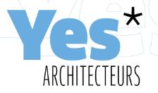 Logo de la société YES ARCHITECTEURS et lien vers son site web